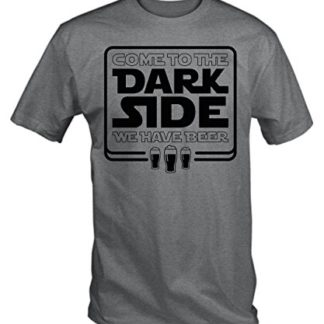 dd6297326b ... TBT Men's Come To The Dark Side We Have Beer T-Shirt Large Ash Grey $  ...